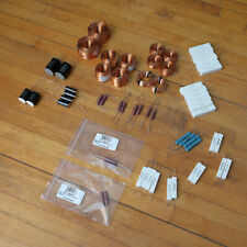 Lot of Speaker Crossover Parts - Inductors Capacitors Resistors Mills Dayton etc