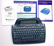 Alphasmart 3000 Portable Laptop Keyboard Word Processor w/ user's, teacher guide