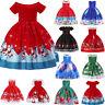 Toddler Kids Baby Girl Santa Princess Dress Christmas Smaxs Outfit Clothes AU