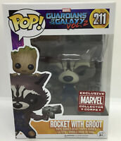 Funko POP MARVEL 211 ROCKET WITH GROOT Marvel Collector Corps Guardians Vol.2 #2