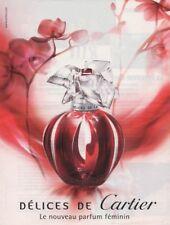 publicité papier - Adevertising paper-  Délices de Cartier