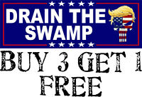 "Donald Trump Drain the Swamp Punisher 8.8"" x 3"" Decal Bumper Sticker 2020"