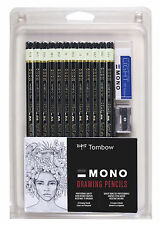 TOMBOW 51523 MONO 12-PIECE PROFESSIONAL DRAWING PENCIL SET