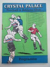 Crystal Palace V Grimsby 1961/2