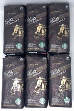 STARBUCKS Italian Roast Whole Bean Coffee Dark Roast 1 lb. 6 ct Best By 7/21/20