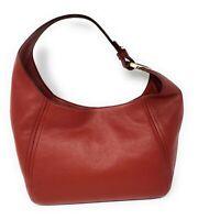 Michael Kors Fulton Pebbled Leather Large Hobo Handbag Shoulder Bag, Brandy,NEW!