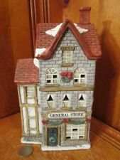 """Midwest General Store Lighted Christmas Village Porcelain 9""""H x 4.5""""W x 3.75""""D"""