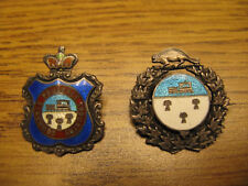 City of Winnipeg Silver Sweetheart Badges Commerce Prudence Industry and Beaver