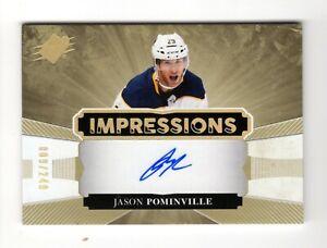 JASON POMINVILLE NHL 2017-18 SPX IMPRESSIONS AUTOGRAPHS #/249 (BUFFALO SABRES)