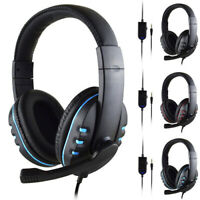 Cuffie Da Gioco Auricolare Gaming Headphone Microfono LED per PS4 XBOX Laptop