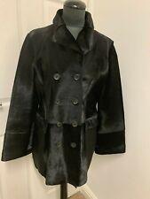 Hugo Boss sheepskin shearling jacket lambskin jacket pony hair fur coat UK14US12