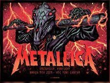 #/450 Louisville 3-9-19 Metallica Show Poster Slugger Tour Munk Print Lithograph