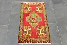 Doormat Bathmat Unique Nomadic Floor Small Oushak Decorative Rug, 1.8 x 3.3ft