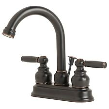 "Contemporary Bathroom Vanity Sink 4"" Centerset Lavatory Faucet Oil Rubbed Bronze"