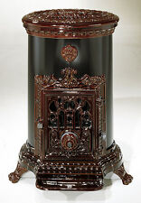 NEW French 7kw Godin 3726 Stove Cast Iron Wood Burner Coal multifuel Oval Brown