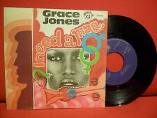 1975 GRACE JONES I Need a Man 7/45 RARE PORTUGAL Unique Bizarre Surreal SLEEVE