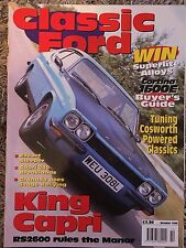 Classic Ford Oct 1998 rare early mag Rs 2600 capri cortina 1600e buyers guide