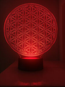 3D Led Lamp - Flower of Life  - Yoga & Meditation Sacred Geometry