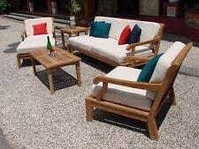 6 Pc Large Teakwood Teak Wood Garden Indoor Outdoor Patio Sofa Set Pool - Sack