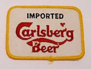 """Carlsbad Beer Patch Embroidered Ale 3-1/2"""" inch Vintage"""