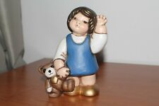 Thun, Vintage, bimba con teddy. Altezza 15 cm.