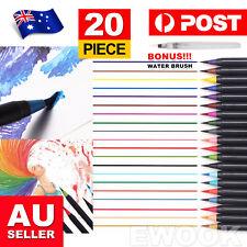 20pcs Plastic Art Oil Watercolor Drawing Painting Sketch Manga Pens Brush AU