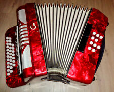 DIATONIC ACCORDION MADE IN GERMANY CONTASINA 13 REGISTERS 4 REEDS 10 BASSES