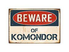 "Beware Of Komondor 8"" x 12"" Vintage Aluminum Retro Metal Sign Vs242"