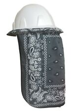 Neck Protector For Hard Hat Neck Shade Bandana Gray New Design Double Layered
