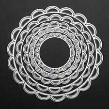 5 Metal Circles Metal Cutting Dies Scrapbooking Embossing Paper Card Decor Craft