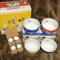 Moomin Soup Mug Cup & Spoon Set Sold at ONLY KFC Japan Complete Set of 4 RARE