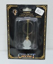 NIB Cir-Kit Concepts Long Downrod Ceiling Lamp w/ Frosted Shade 1:12 CK-3955
