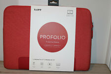 """LAUT - PROFOLIO Protective Sleeve for Apple MacBook 13""""   Soft Touch Lining RED"""