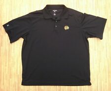 Chicago Blackhawks Antigua Black Polo Shirt ~ Men's XL Loose XXL ~ Golf