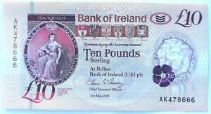 Bank of Ireland £10 AK47 Note AK478666 UNCirculated - Ulster - Rare