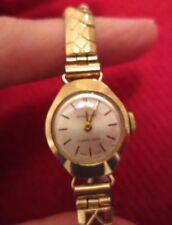 Vintage Swiss Made 17 Jewels Gold Pl Ingersoll Hand winding Ladies Wristwatch