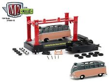 1:64 M2 Machines *SHELBY MODEL KIT 15* Teal & Coral 1959 VW Microbus Deluxe USA
