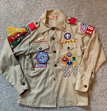 BSA Boy Scouts shirt - vintage 1990 - WEBELOS - LOADED WITH PINS & PATCHES