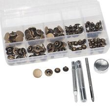 15mm Antique Brass Buttons Popper Press Stud Button Clothing Jackets DIY Craft