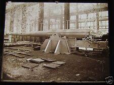 Glass Magic lantern slide BATTLESHIP GUN UNDER CONSTRUCTION CIRCA WW1 ROYAL NAVY