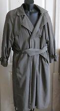 Womens London Fog Wool Blend Coat Long Dark Green Button Lining Size 6 Rg Trench