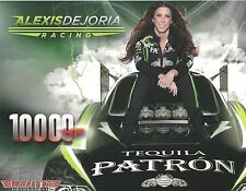 ALEXIS DEJORIA 2013 TEQUILA PATRON NHRA Drag Racing Funny Car POSTCARD HANDOUT