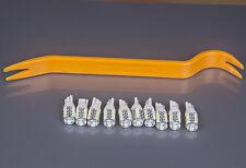 10x T10 White 13-LED W5W 912 921 Reverse Interior Exterior Light+1 Open Pry Tool