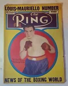 October 1946 THE RING VINTAGE BOXING MAGAZINE Tami Mauriello