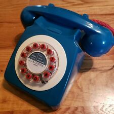 746 Retro Telephone, PETROL (BLUE & RED)