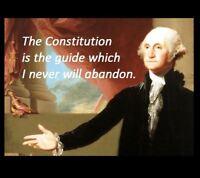 George Washington Constitution Quote PHOTO, United States President Art Print