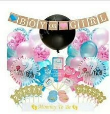 Baby Shower Gender Reveal Party Supplies, Boy Or Girl Decoration Kit 109 Pcs