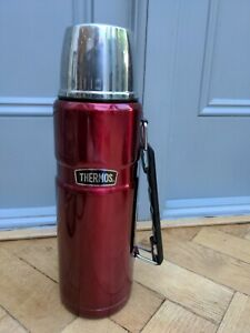 Thermos 184803 Stainless King Water Bottle - Red