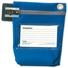 Versapak Cash Bag With Zip Small Blue CCB0-C For Use With Security Seals 127266