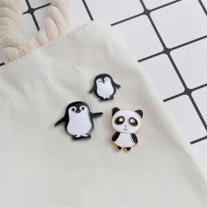 1x Cartoon Cute Enamel Pin Penguin Panda Animal Jacket Backpack Brooches Badg`hw